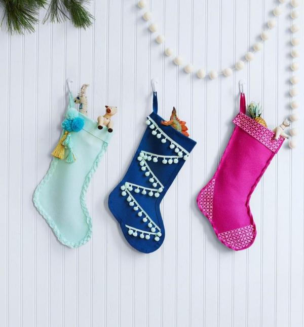 chaussette de Noël à fabriquer bas en style scandinave
