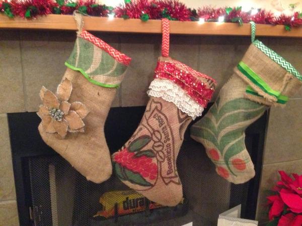 chaussette de Noël à fabriquer bas en tat