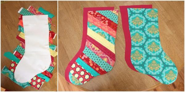 chaussette de Noël à fabriquer bas multicolores