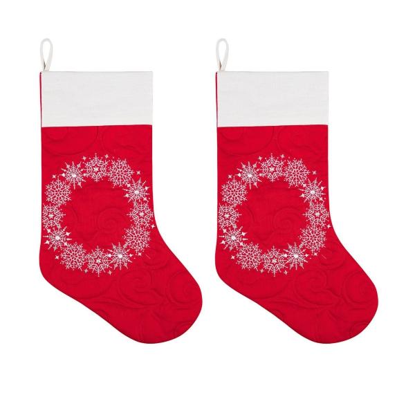 chaussette de Noël à fabriquer bas rouges