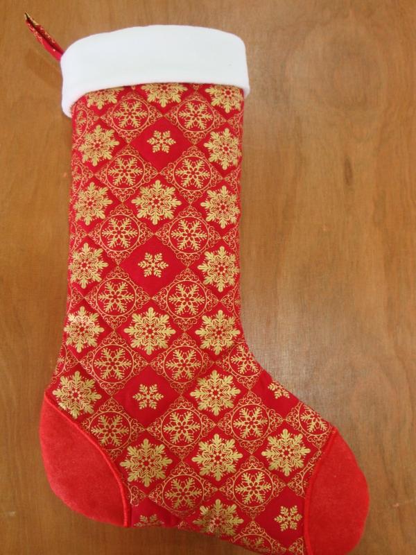 chaussette de Noël à fabriquer jolie chaussette