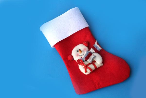 chaussette de Noël à fabriquer manchette blanche