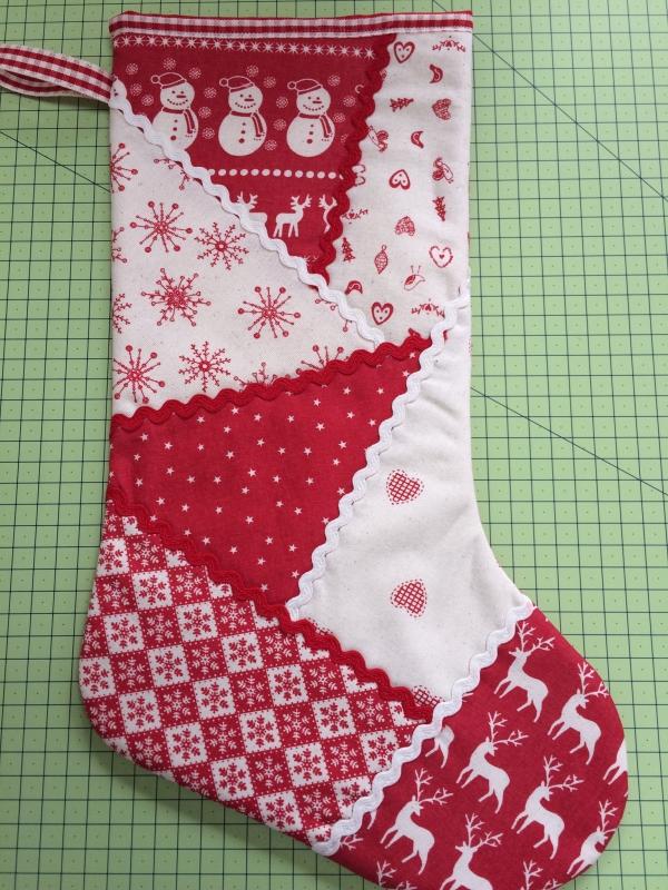 chaussette de Noël à fabriquer motifs mélangés
