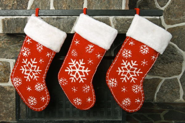 chaussette de Noël à fabriquer un gros flocon de neige