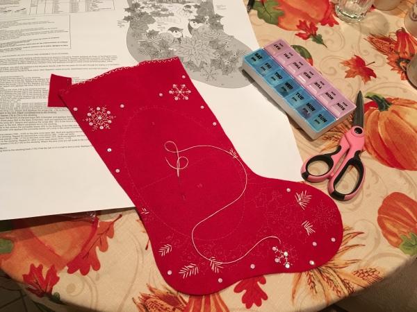 chaussette de Noël à fabriquer un patron de chaussette