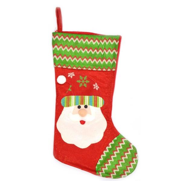 chaussette de Noël à fabriquer une figure de Père Noël