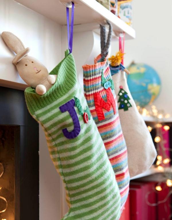 chaussette de Noël à fabriquer vieux pulls