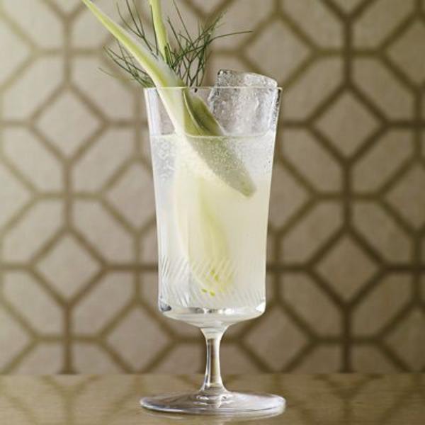 cocktail Noël sans alcool glacière au fenouil