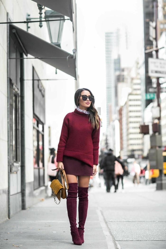 comment porter des cuissardes avec une jupe