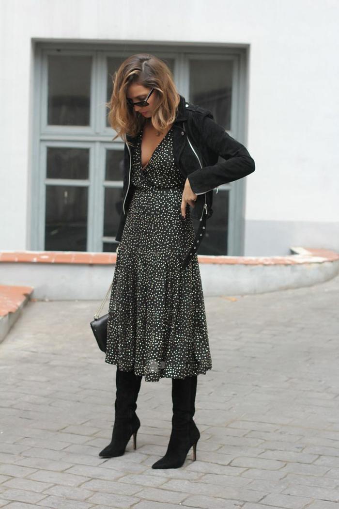 comment porter des cuissardes avec une robe fluide