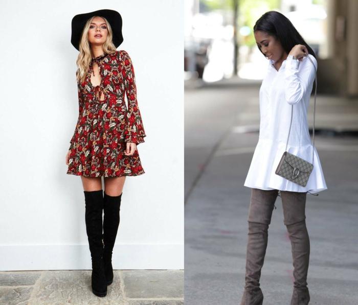 comment porter des cuissardes avec une robe