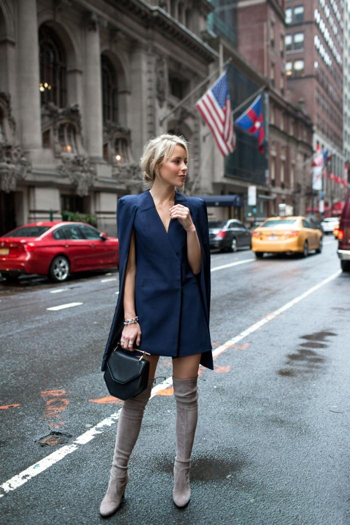 comment porter des cuissardes avec une veste longue
