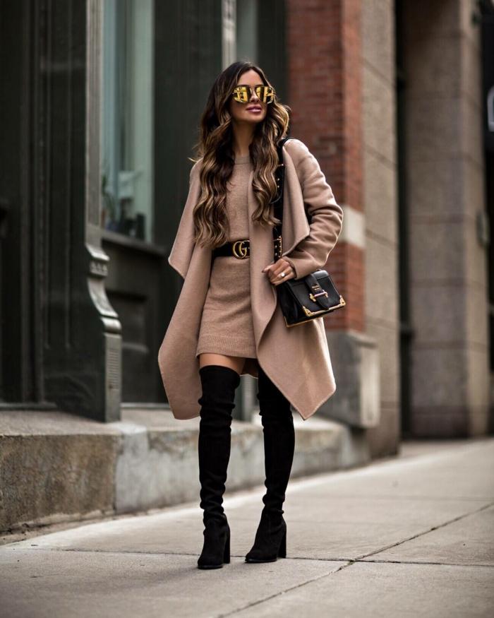 comment porter des cuissardes look pour l'hiver
