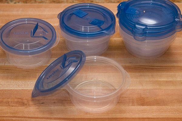 conservation riz cuit en plastique