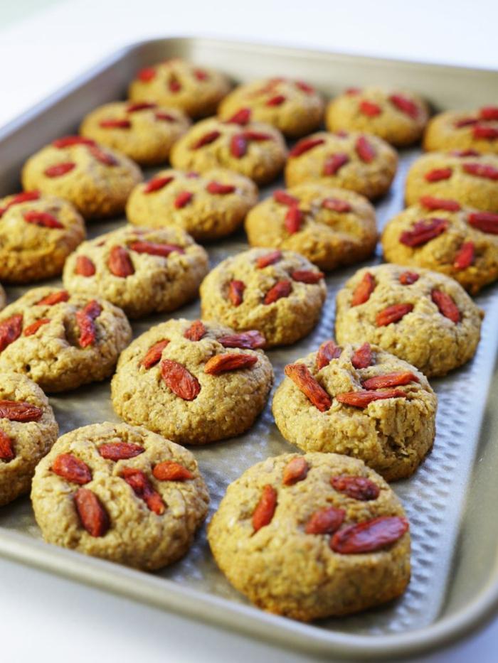 cookies dessert avec baie de goji