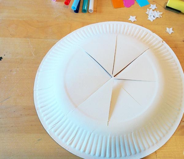 couronne Épiphanie découper huit triangles