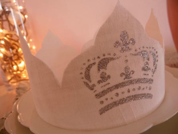 couronne Épiphanie des éléments argentés
