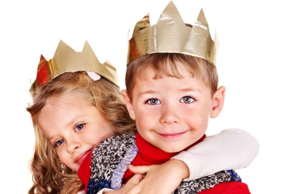 couronne Épiphanie support en papier et folio