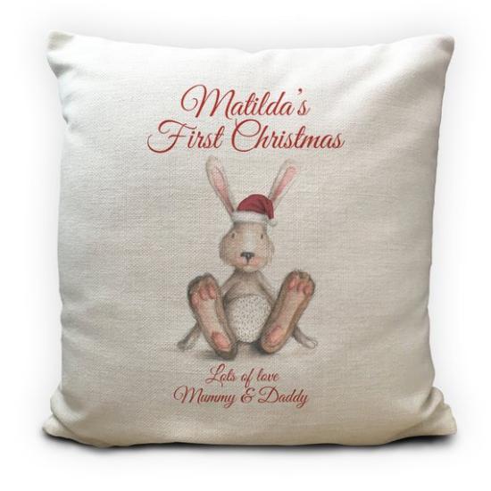 coussin Noël personnalisé cadeau pour fille