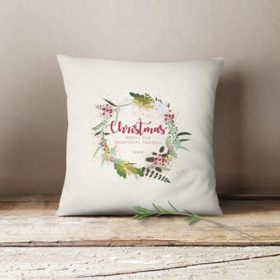 coussin Noël personnalisé convenable pour cadeau