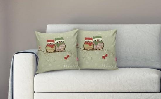 coussin Noël personnalisé deux jolis coussins