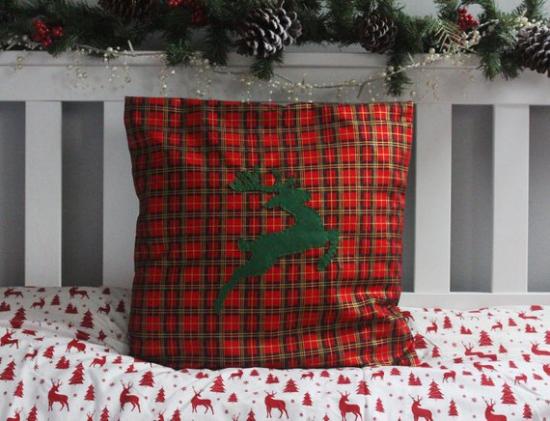 coussin Noël personnalisé forme carrée