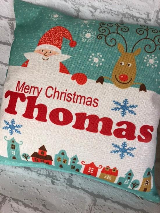 coussin Noël personnalisé pour un petit garçon