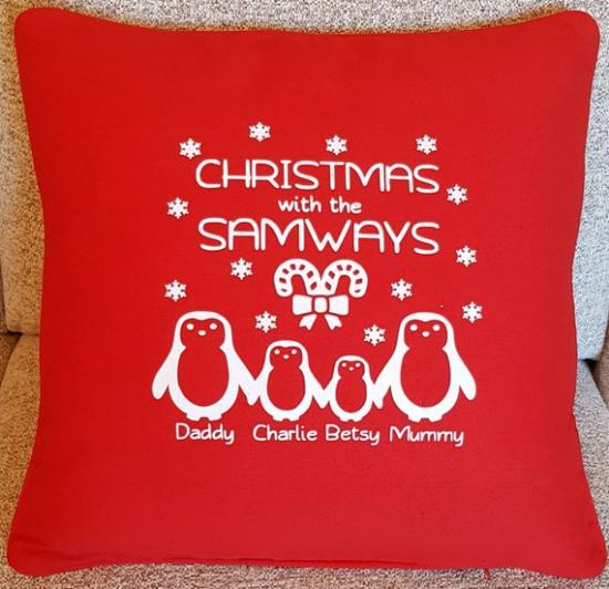 coussin Noël personnalisé toute une famille