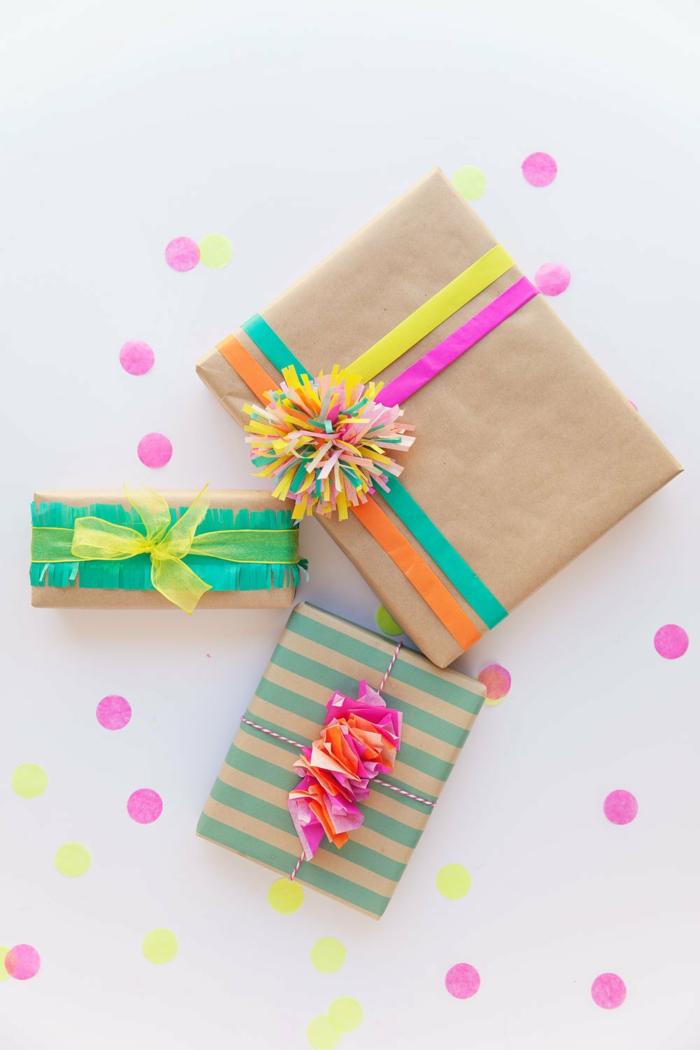 déco papier cadeau kraft pour un cadeau personnalisé
