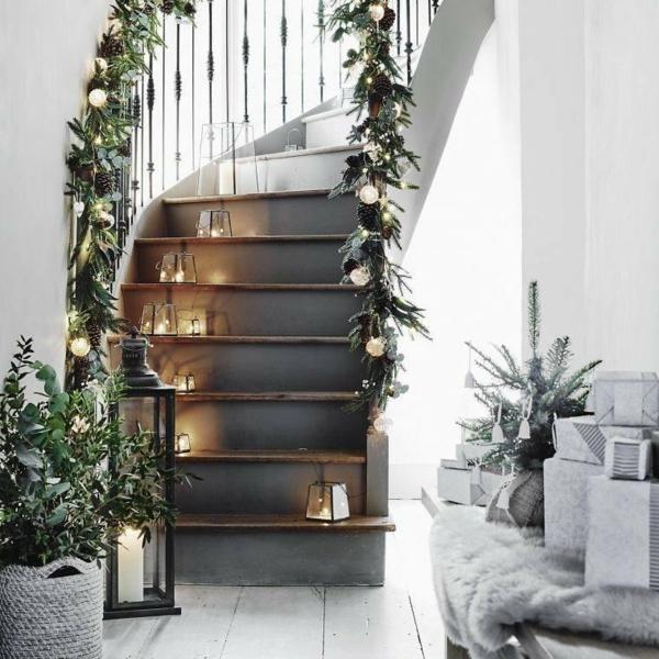 décoration escalier noël scandinave