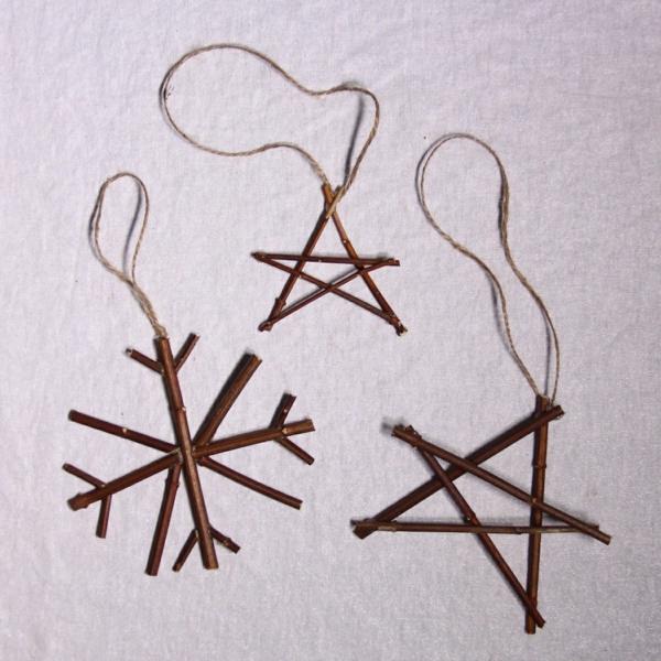 décorer son sapin de noël étoile branchage