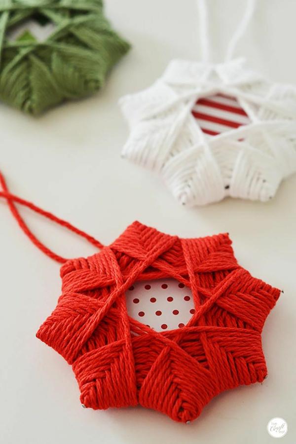 décorer son sapin de noël étoile fil en coton