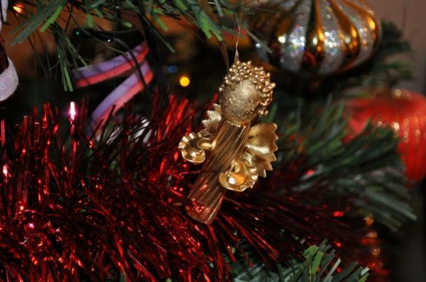 décorer son sapin de noël ange pâtes alimentaires