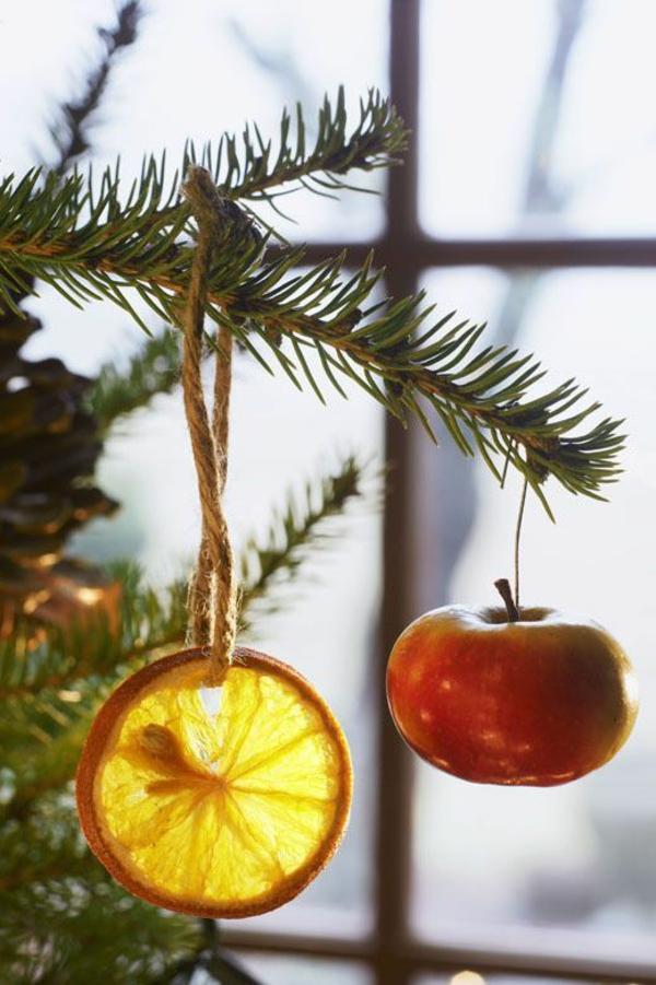 décorer son sapin de noël ornement fruits
