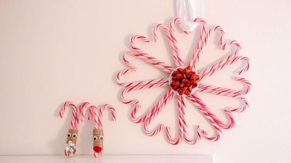diy décoration festive avec canne de noël