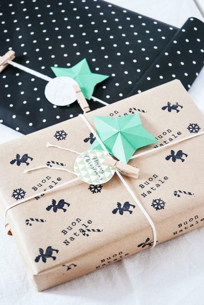 emballage papier cadeau kraft