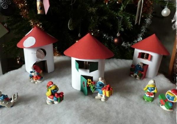 fabriquer un village de Noël couper les murs