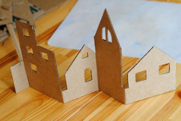 fabriquer un village de Noël des coupures