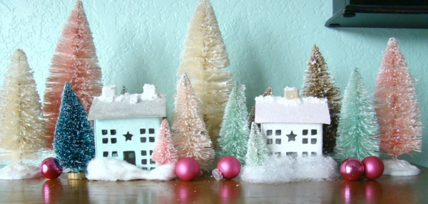 fabriquer un village de Noël deux maisons