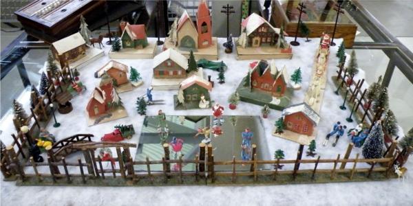 fabriquer un village de Noël installation dévolue