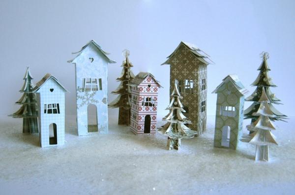 fabriquer un village de Noël le sol est glacé