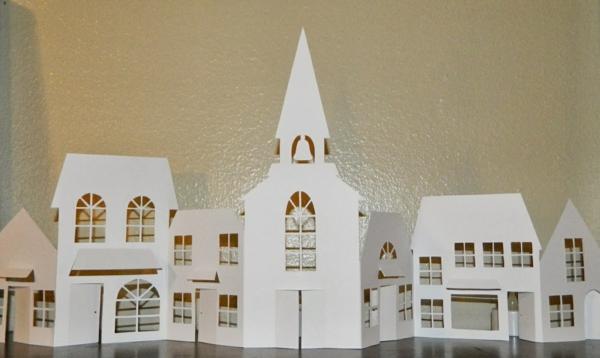 fabriquer un village de Noël maisons en intégralité