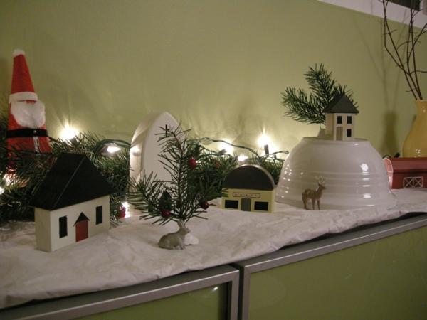 fabriquer un village de Noël support en papier blanc