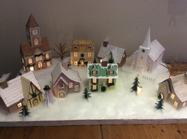 fabriquer un village de Noël toutes les maisons