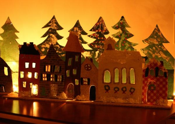 fabriquer un village de Noël village illuminé