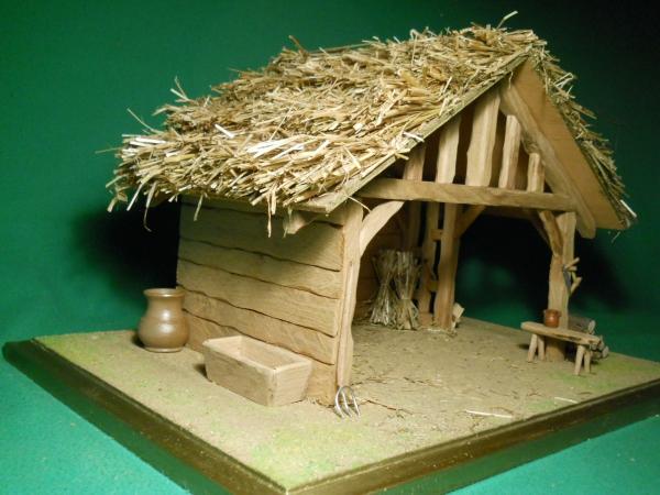 fabriquer une crèche de Noël du matériel en bois
