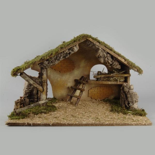 fabriquer une crèche de Noël imitation de bois et de briques