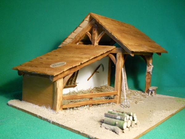fabriquer une crèche de Noël petite cabane