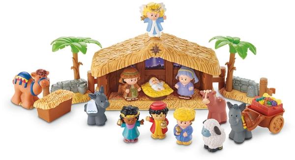 fabriquer une crèche de Noël scène en plastique