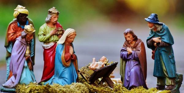fabriquer une crèche de Noël simple décor